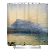 The Blue Rigi - Sunrise Shower Curtain