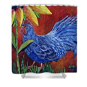 The Blue Rooster Shower Curtain