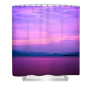 The Blue Sky And River Shower Curtain