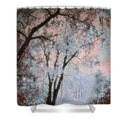 The Blue Trees Shower Curtain
