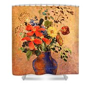 The Blue Vase Shower Curtain
