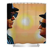 The Blues Brothers Shower Curtain