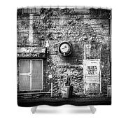 The Blues Ship Cafe Shower Curtain