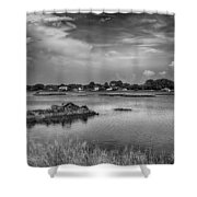 The Boardwalk Trail Shower Curtain