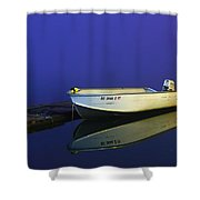The Boat In The Fog Shower Curtain