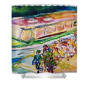 The Boat Trip, 1989 Wc On Paper Shower Curtain
