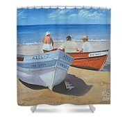 The Boaters Shower Curtain