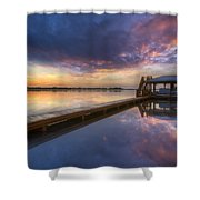 The Boathouse Shower Curtain