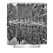 The Boathouse In Old Forge Shower Curtain