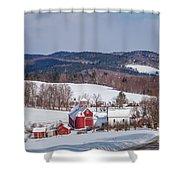 The Bogie Mountain Farm Shower Curtain