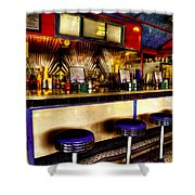The Bolton Bean Trolley Car Diner In Bolton Landing New York Shower Curtain