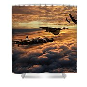 The Bomber Age  Shower Curtain