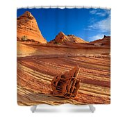 The Bone Yard In The North Coyote Buttes Shower Curtain