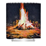 The Bonfire Shower Curtain