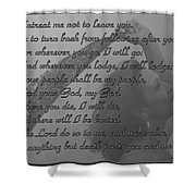 The Book Of Ruth Shower Curtain