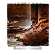 The Boots Shower Curtain