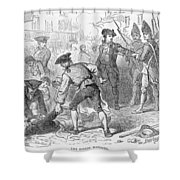 The Boston Massacre, March 5th 1770, Engraved By A. Bollett Engraving B&w Photo Shower Curtain