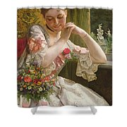 The Bouquet Shower Curtain by Albert Raudnitz