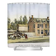 The Bowery, New York, 1783 Shower Curtain