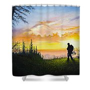 The Bowhunter Shower Curtain