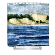 The Bowl - Dunes Study Shower Curtain