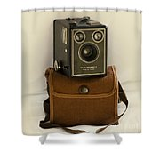 The Box Brownie Shower Curtain