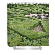 The Boxwood Garden At Chateau Villandry Shower Curtain