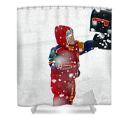 The Boy And The Box 2 Shower Curtain