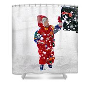 The Boy And The Box 3 Shower Curtain