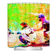 The Boys Of Summer 5d28228 The Catcher Square Shower Curtain