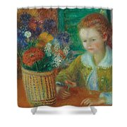 The Breakfast Porch Shower Curtain by William James Glackens