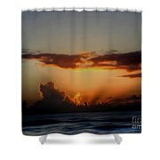 The Breaking Morn Shower Curtain