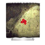 The Breathing Reddish Shower Curtain