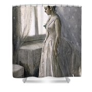 The Bride Shower Curtain by Anders Leonard Zorn