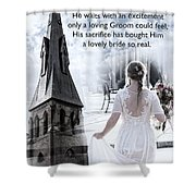 The Bride Of Christ Shower Curtain