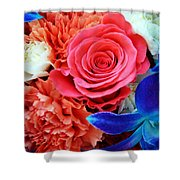 The Brides Flowers Shower Curtain