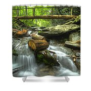 The Bridge At Alum Cave Shower Curtain by Debra and Dave Vanderlaan