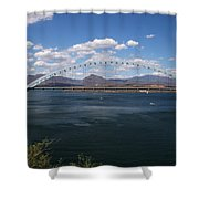 The Bridge At Roosevelt Lake Shower Curtain