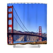 The Bridge Shower Curtain by Bill Gallagher