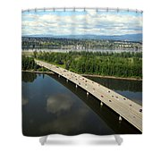 Oregon Bridge From Above Shower Curtain