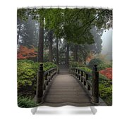 The Bridge In Japanese Garden Shower Curtain