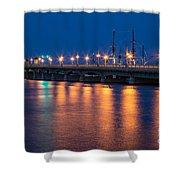 The Bridge Of Lions St. Augustine Florida Shower Curtain