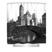 The Bridge Over Duck Pond  Shower Curtain