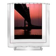 The Bridge Poster Shower Curtain