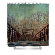 The Bridge To The Other Side Of Where? Shower Curtain