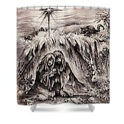 The Bright And Morning Star Shower Curtain