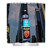 The Bright Lights Of Times Square Shower Curtain