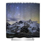 The Bright Stars Of Auriga And Taurus Shower Curtain