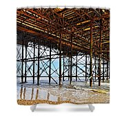 The Brighton Pier  Shower Curtain