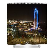 The Brighton Wheel At Night Shower Curtain
